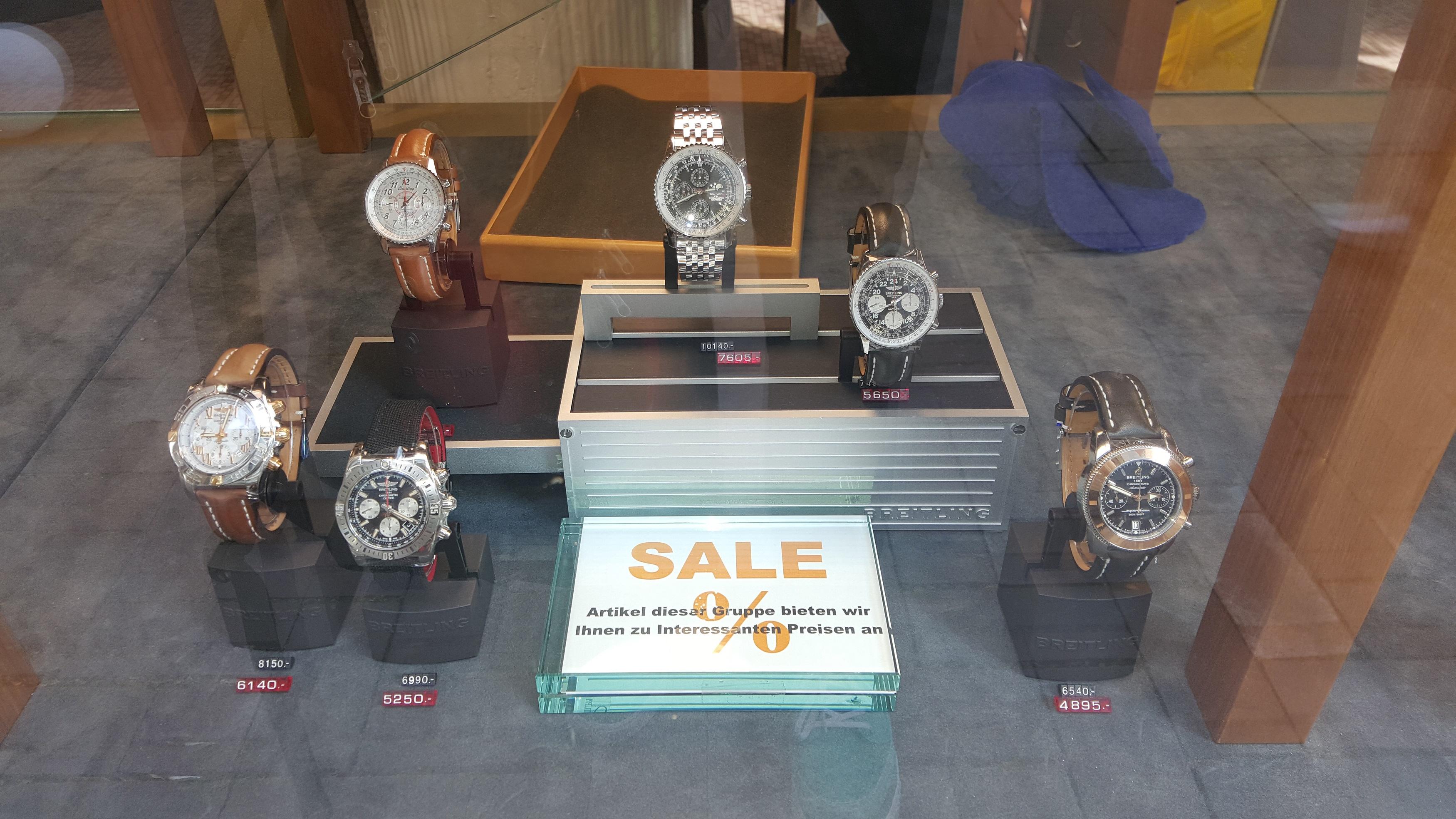 [Lokal Essen] Sale Breitling Uhren bei Edmund Arnold