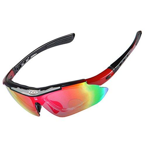Polycarbonat Radbrille / Sportbrille mit UV Schutz 400 und polarisierten Gläsern