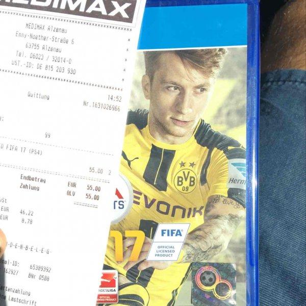 Fifa 17 PS4 / Xbox im Medimax Alzenau Lokal?!