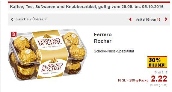 [Kaufland] bundesweit | Ferrero Rocher | 30% billiger | 2,22€ statt 3,19€