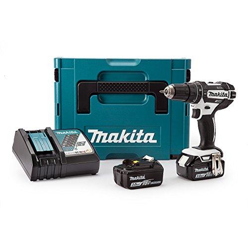 [Amazon.co.uk] Makita DHP482RFWJ Akku Schlagbohrschrauber 18V inkl. 2 x 3.0 Ah Li-Ionen-Akkus, Schnellladegerät, MakPac für 150,36 Euro