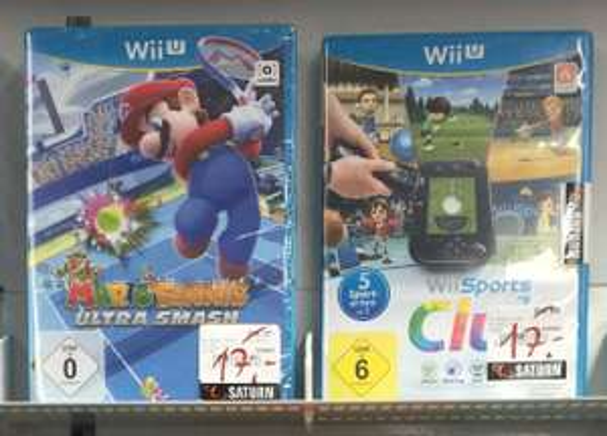 [Saturn Lünen+Aachen] WiiU : Wii Sports Club oder Mario Tennis Ultra Smash je 17€