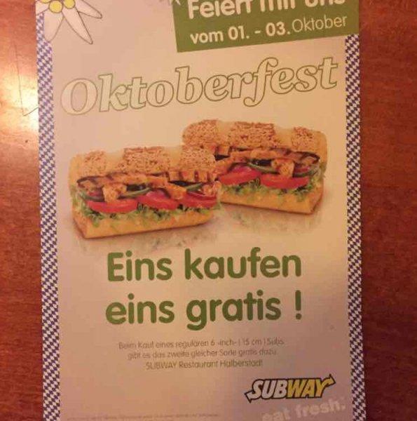 Subway Halberstadt eins kaufen eins GRATIS