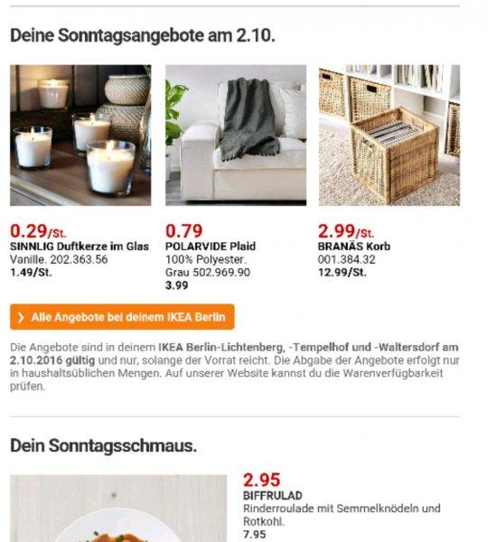 [Ikea Berlin] verkaufsoffener Sonntag 2.10.2016