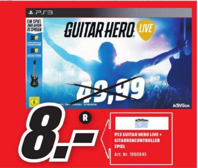 [Lokal Mediamarkt Weiden] Guitar Hero Live inklusive Gitarre (Playstation 3) für schmale 8,-€
