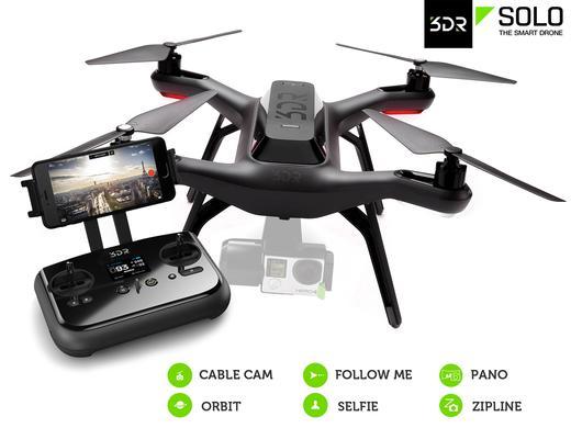 3DR Solo Smart Aerial Drohne 88,5 km/h schnell bei Ibood für € 535,90 33% Einsparung ggü Idealo