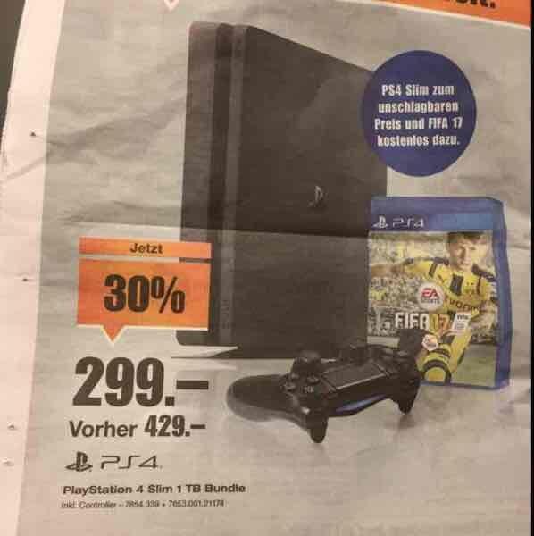 (Schweiz) [Melectronics] PS4 Slim 1TB + FIFA 17 bundle (299CHF)