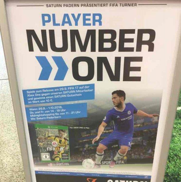 [Lokal Paderborn] 10€ Gutschein für FIFA 17 (Xbox) Sieg gegen Saturnmitarbeiter