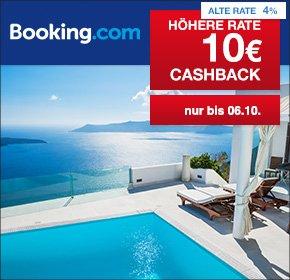 [Shoop/Qipu] Booking.com: 10€ Cashback auf alle Hotelbuchungen ab 79€