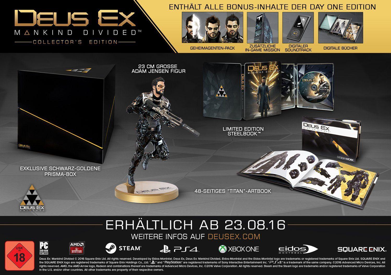 Deus Ex: Mankind Divided - Collectorx27s Edition PS4 - 62,99 € inkl. VSK TOP