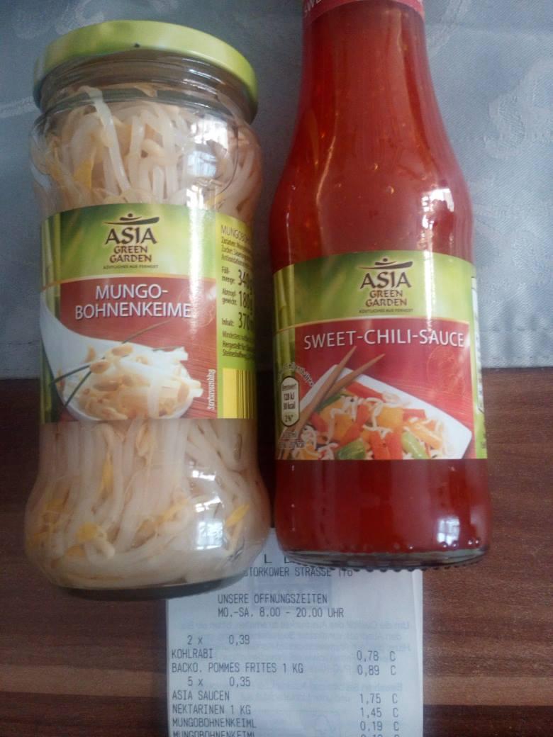 [lokal? Aldi Berlin Storkower] Asia - Mungobohnen- Keimlinge 0,19€, Sweet Chili Sauce und andere 300ml 0,35€