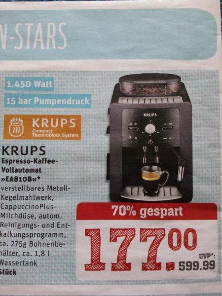 KRUPS Kaffeevollautomat EA810B für EUR 177,- bei REWE CENTER