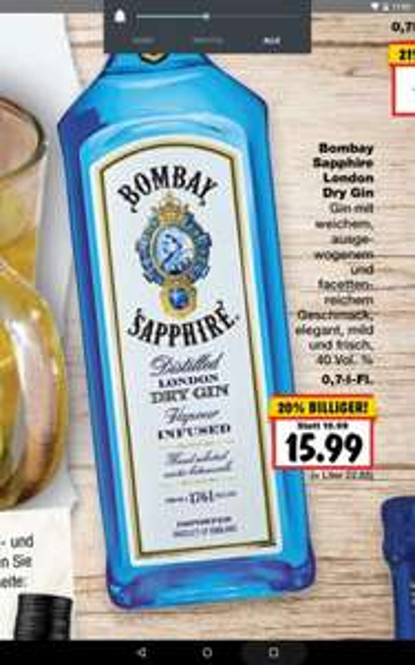 [Kaufland] Bombay Sapphire London Dry Gin 0,7l