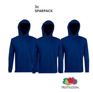 WIEDER DA! 3 x Fruit of the loom longsleeve Hoodies Ebay (trendyoo) | Weiß & Navy