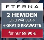 """Jetzt aufgefüllt mit Neuheiten von Eterna, Seidensticker, Marvelis und Venti: Hemden-Bundle aus 2x Hemden der neue Kollektionen + gratis """"Marken-Krawatte"""" zusammen für 69,90€ @Hemden.de"""