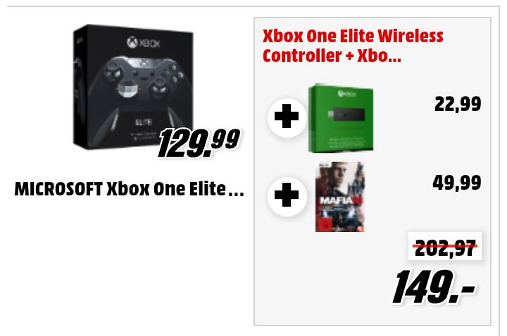 (Media Markt online) Xbox One Elite Wireless Controller + Xbox One Wireless Adapter + Mafia 3