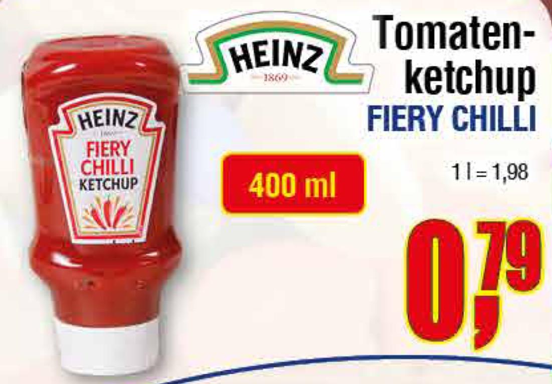 [Centershop] HEINZ Fiery Chilli Ketchup 400ml 0,79€