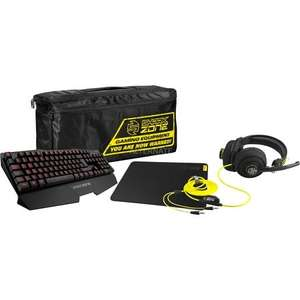 "Sharkoon Gaming Bundle Tastatur, Pad, Headset, Tasche ""Shark Zone"" für 64,85€ @ ZackZack"