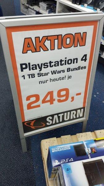 PS4 1TB Star Wars bundle je 249(Saturn München)