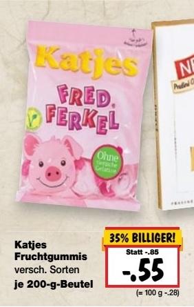[Kaufland] Katjes-Fruchtgummi 200gr verschiedene sorten 0,55€