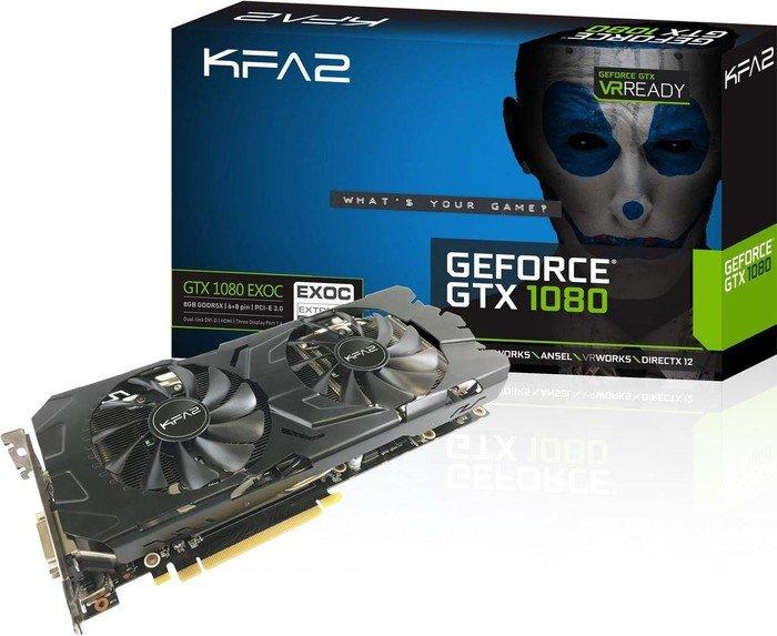 [MindStar] KFA² GeForce GTX 1080 EX OC für 599€