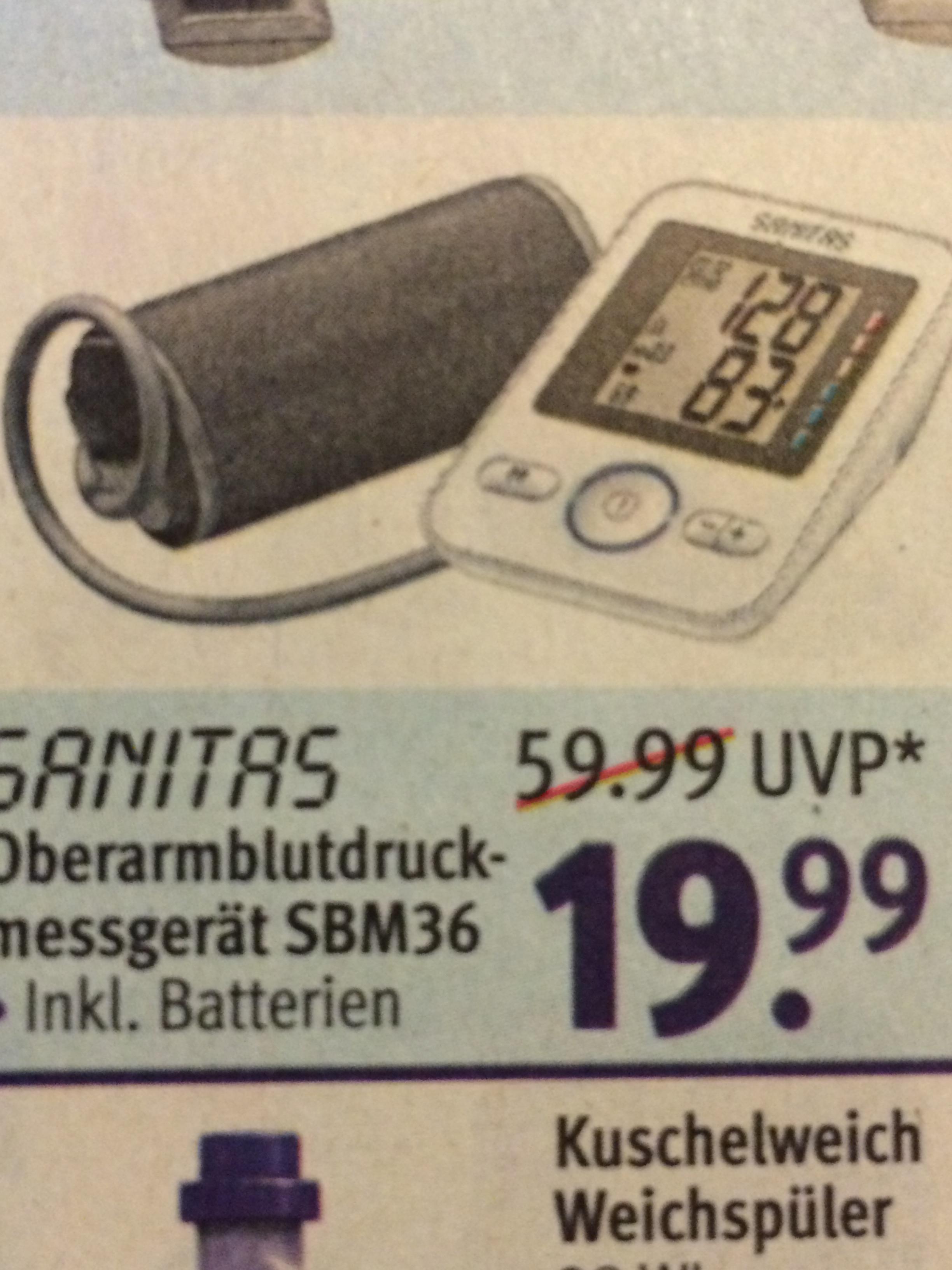 ROSSMANN,ab 01.10  SANITRS Blutdruckgerät SBM36  nur für 19.99EURO