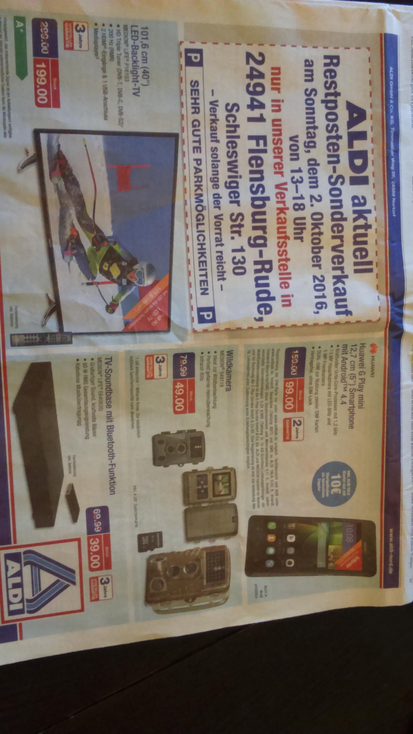 Aldi Nord Respostenverkauf - z.B. HUAWEI G PLAY mini für 99 Euro (lokal Flensburg)