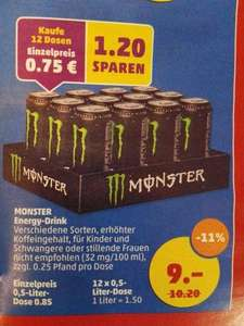 [Penny] 12 Dosen Monster Energy-Drink für 9,- € / 0,75€ pro Dose