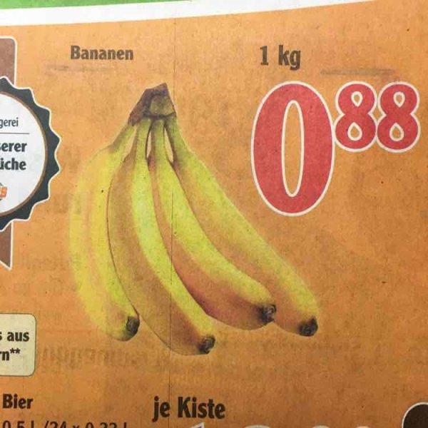 Bananen 1kg 0,88€ - Globus Schwandorf (wahrs. lokal)