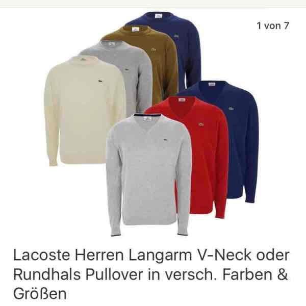 Lacoste Herren Pullover versch. Farben Ebay WOW!