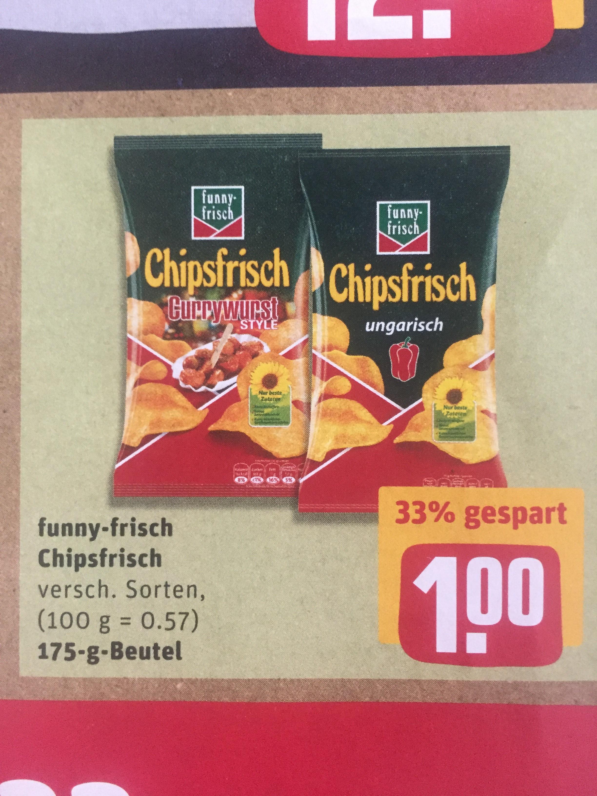 Chipsfrisch verschiedene Sorten REWE 1€