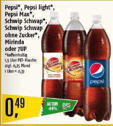 [Marktkauf] Pepsi, Schwipp Schwapp, Miranda & 7Up 1,5l - Region Nord