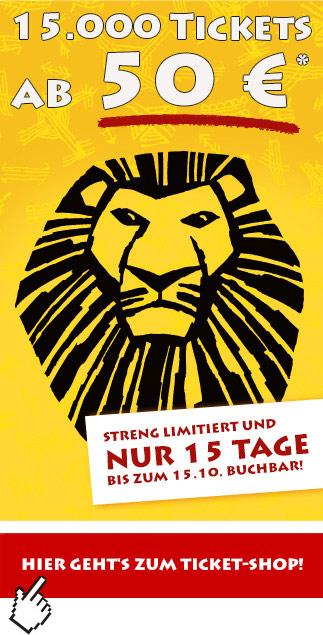 [Bild] 15.000 Tickets für König der Löwen ab 50€