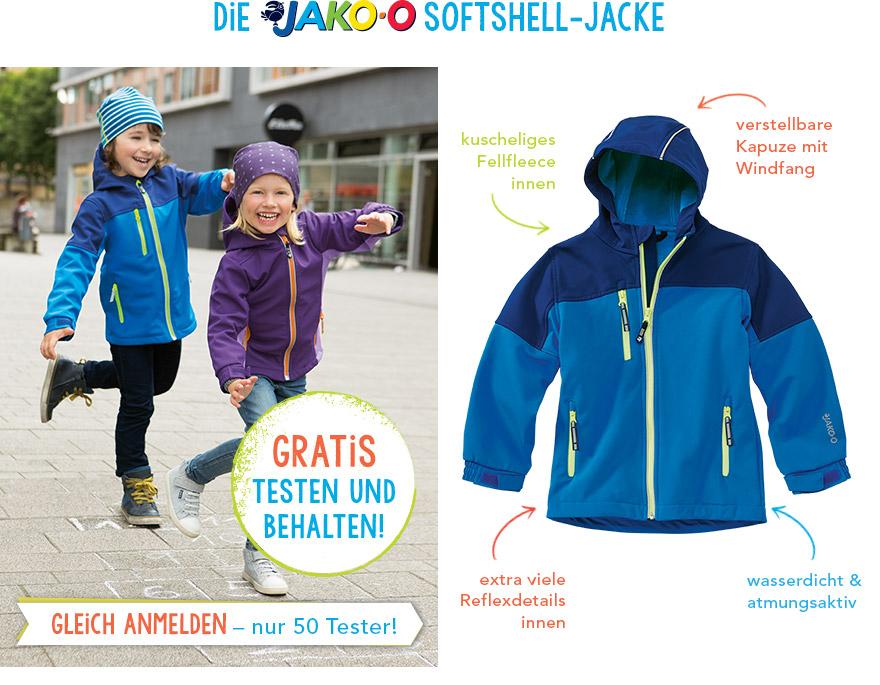 JAKO-O Softshell Jacken für Jungen und Mädchen kostenlos testen und behalten