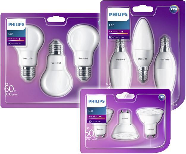 [Toom] Philips LED-Lampen 3er-Pack