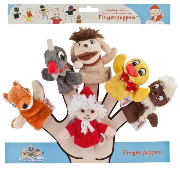 Sandmann und Freunde, Fingerpuppen Set, 6 Stück