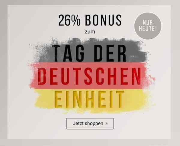 Tom Tailor Online Shop 26% auf alles am 03.10.