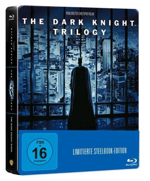 (ABGELAUFEN) (Amazon Prime) The Dark Knight Trilogy Steelbook