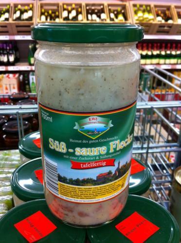 Leckere Süß-Saure Flecke im Glas bei Penny für 1,99