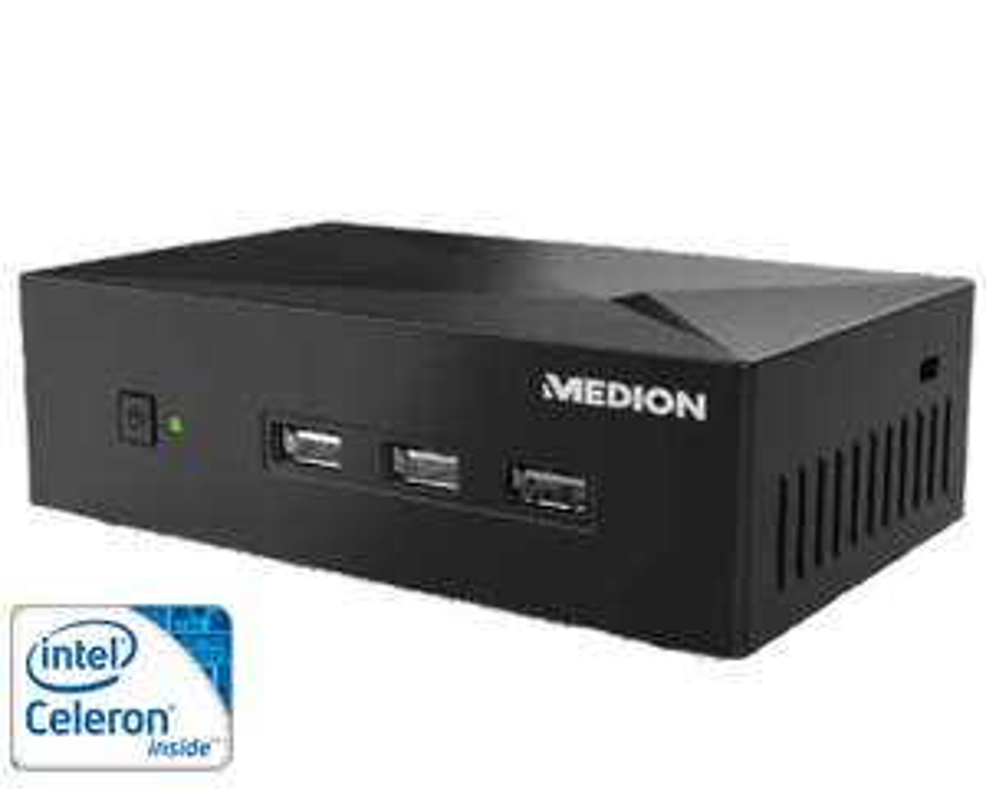 Medion Akoya Mini PC S1503D,135x83x40 mm, Celeron N2808, incl. Windows 10 Home