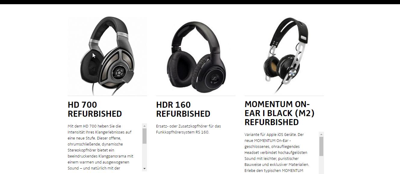 [Refurbished] Sennheiser Kopfhörer ab 59€