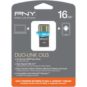 PNY OTG Duo-Link OU3 USB-Stick 16 GB