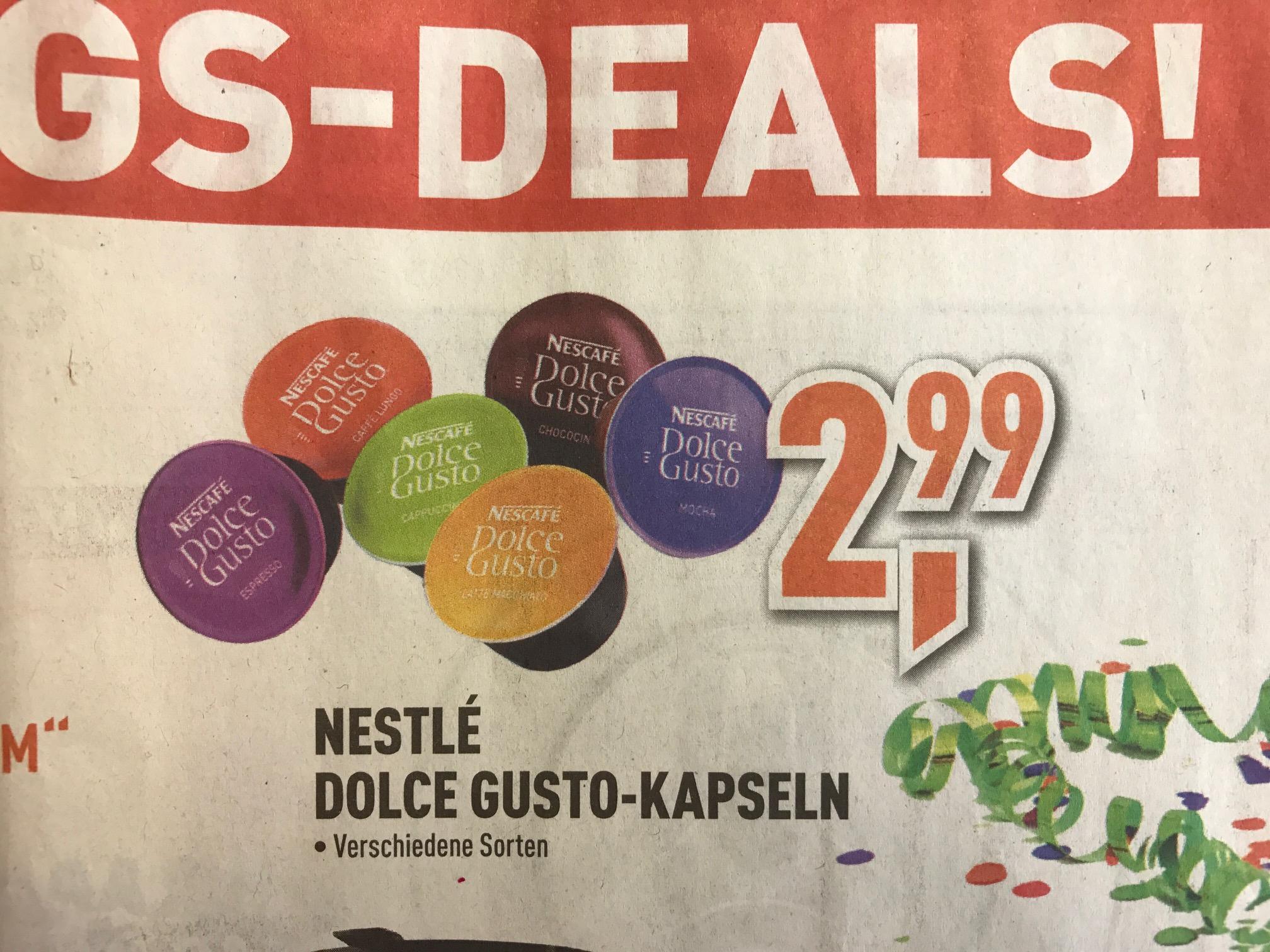[LOKAL Berlet Hamm] Nestle Dolce Gusto Kapseln – verschiedene Sorten für 2,99 €