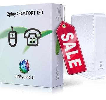 Unitymedia 2play Comfort 120 für 24,99€/Monat und 200€ Shoop