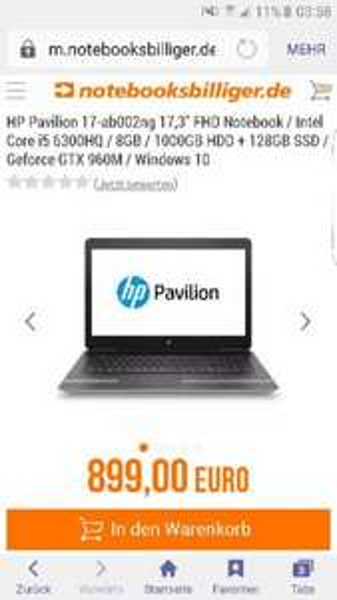 HP pavilion 17-ab002ng für 731.61 Euro!!!