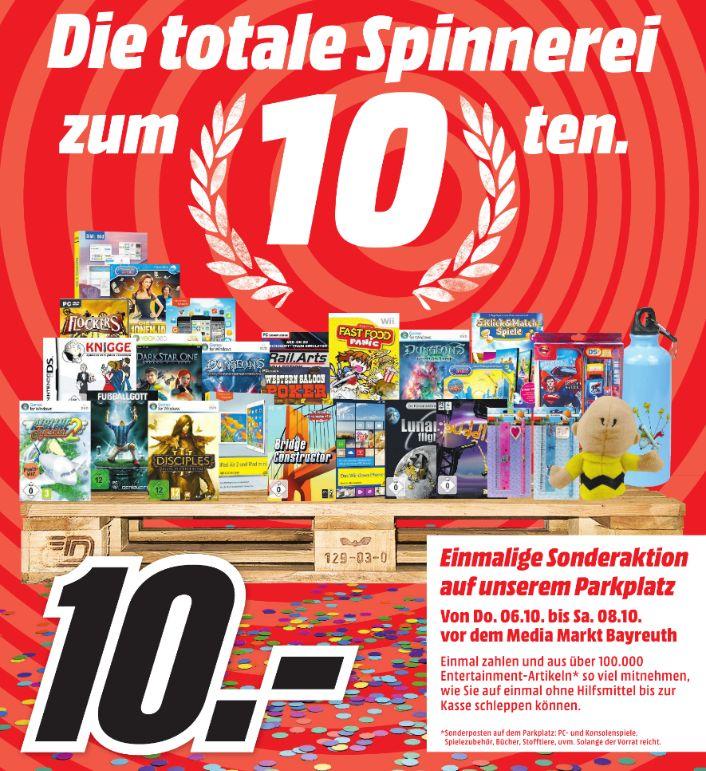 [Lokal Mediamarkt Bayreuth ab Donnerstag] Aus ca. 100.000 Sonderposten Artikeln so viel mitnehmen wie man tragen kann. Für 10,-€