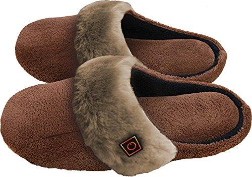Thermo Slippers - beheizbare Hausschuhe mit 3-stufiger Temperatureinstellung - Größe 40 - 41,5 und 42 - 43,5 verfügbar - 39,99€