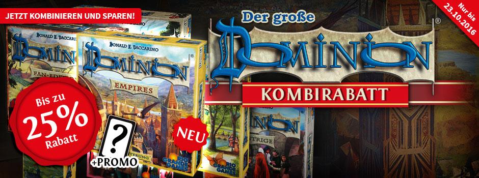 [Spiele-Offensive] Dominion Rabattaktion. 25% Rabatt bei 3 Artikeln.