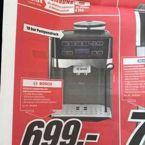 [lokal Bad Kreuznach MediaMarkt] Bosch TES 60553 VeroAroma 500 Kaffeevollautomat