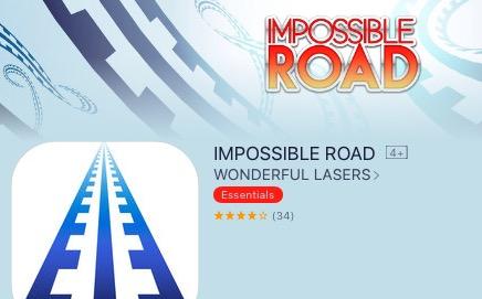 [ IOS ] IMPOSSIBLE ROAD von WONDERFUL LASERS (essentials) zum ersten mal kostenlos